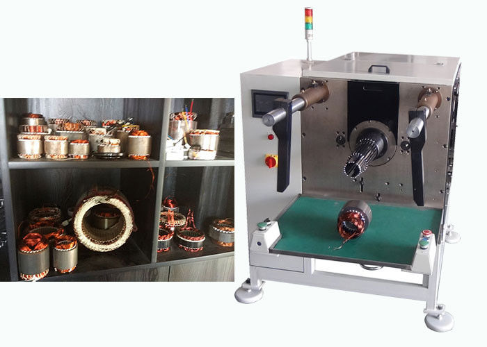 Stator Coil Insertion Machine Horizontal Three Phase White Color